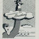 Breitling Watch Company Switzerland Vintage 1951 Swiss Ad Suisse Advert Horology