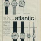 Atlantic Watch Company Vintage 1962 Swiss Ad Suisse Advert Horlogerie Horology