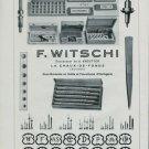1947 F. Witschi Switzerland Vintage 1947 Swiss Ad Suisse Advert Horlogerie Horology