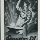 Ebauches S.A. Neuchatel Switzerland Vintage 1947 Swiss Ad Suisse Advert Horology