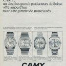 Camy Watch Company Geneva Switzerland Vintage 1972 Swiss Ad Suisse Advert