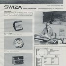 1972 Swiza Clock Company Swiss Watch Fair Basle switzerland 1972 Swiss Ad Suisse Advert Schwab