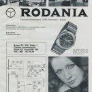 1972 Rodania Watch Company Switzerland Foire de Bale 1972 Swiss Ad Suisse Advert Swiss Watch Fair