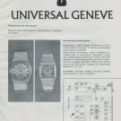 1972 Universal-Geneve Watch Company Foire de Bale Basle 1972 Swiss Ad Suisse Advert Switzerland