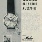 1967 Mido Watch Company Switzerland Vintage 1967 Swiss Ad Suisse Advert Horlogerie Horology