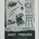Albert Froidevaux Switzerland 1947 Swiss Ad Suisse Advert Horlogerie Horology