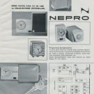 1972 Nepro Watch Company Foire de Bale Switzerland Vintage 1972 Swiss Ad Suisse Advert