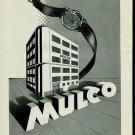 1950 Mulco Watch Company La Chaux-de-Fonds Switzerland Vintage 1950 Swiss Ad Suisse Advert