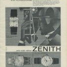 1965 Zenith Watch Company Vintage 1965 Swiss Ad Suisse Advert Le Locle Switzerland