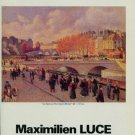 Maximilien Luce La Seine au Port-Saint-Michel 1987 Paris Art Exhibition Ad Advertisement