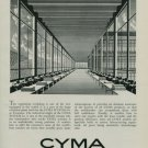 Cyma Watch Company Original 1950 Swiss Ad Switzerland Suisse Advert Horology