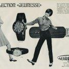 Aureole Watch Company Switzerland Vintage 1968 Swiss Ad Suisse Advert Horlogerie