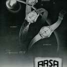 Arsa Watch Company Switzerland 1949 Swiss Ad Suisse Horlogerie Horology Advert