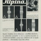 Alpina Watch Company Bienne Switzerland Vintage 1968 Swiss Ad Suisse Advert