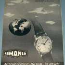 1953 Lemania Watch Company Switzerland 1953 Swiss Ad Suisse Advert Horlogerie Horology