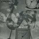 1950 Enicar Clock Company Langnau Switzerland Vintage 1950 Swiss Ad Suisse Advert