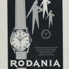 1956 Rodania Watch Company 1956 Swiss Ad Suisse Advert Grenchen Switzerland Horology