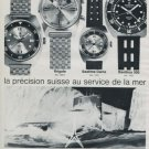 Aquastar Watch Company Seatime Vintage 1970 Swiss Ad Suisse Advert Horlogerie