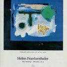 Helen Frankenthaler 1987 Art Exhibition Ad Entrada Andre Emmerich Gallery