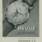1950 Revue Watch Company Vintage 1950 Swiss Ad Suisse Advert Waldenburg Switzerland