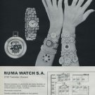Numa Watch Company Switzerland Swiss Watch Fair 1972 Swiss Ad Suisse Advert