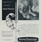 1956 Girard-Perregaux Watch Company Switzerland Vintage 1956 Swiss Ad Suisse Advert
