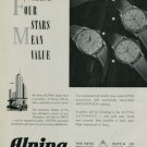 Alpina Watch Company 1950 Swiss Ad These Four Stars Switzerland Suisse Horology