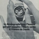 1973 Zenith Watch Company Zenith El Primero Advert Vintage 1973 Swiss Ad Suisse Advert Switzerland