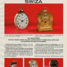 1968 Swiza Clock Company Moutier Switzerland Vintage 1968 Swiss Ad Suisse Advert  Horology