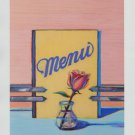 Wayne Thiebaud Menu Rose Art Ad Advertisement
