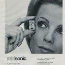 1972 Nepro Watch Company Switzerland Nepro Minisonic Advert Vintage 1972 Swiss Ad Suisse Advert