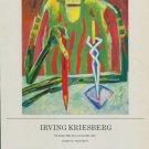 1985 Irving Kriesberg The Scribe 1985 Art Exhibition Ad Advert Graham Modern