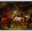 Wouterus Verschuur Tending the Horses Art Ad Advertisement