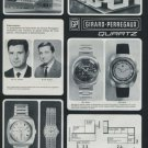 1972 Girard-Perregaux Watch Company Foire de Bale Vintage 1972 Swiss Ad Suisse Advert