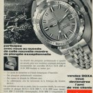 Doxa Watch Company Doxa SUB 200 300 Searambler Advert 1970 Swiss Ad Suisse Advert Horlogerie