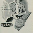1950 Lemania Watch Company Orient Switzerland Vintage 1950 Swiss Ad Suisse Advert Horlogerie