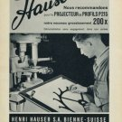 1956 Henri Hauser Machine Company Vintage 1956 Swiss Ad Suisse Advert Optiques Bienne Switzerland