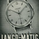 1950 Langendorf Watch Company Lanco-Matic Watch Co. Switzerland Vintage 1950 Swiss Ad Suisse Advert