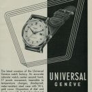 1950 Universal Geneve Watch Company Switzerland Vintage 1950 Swiss Ad Suisse Advert