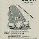 Zenith Watch Company Switzerland Vintage 1950 Swiss Ad Suisse Advert Horology Horlogerie