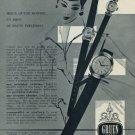 1956 Gruen Watch Company Vintage 1956 Swiss Ad Suisse Advert Geneva Switzerland
