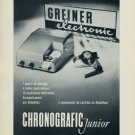 1956 Greiner Electronic Company Langenthal Switzerland Vintage 1956 Swiss Ad Suisse Advert