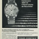 Girard-Perregaux Watch Company Switzerland Vintage 1968 Swiss Ad Suisse Advert Horology
