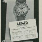 Admes Watch Company Vintage 1950 Swiss Ad Geneva Switzerland Geneve Suisse