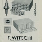 1950 F. Witschi Watch Parts Company Switzerland 1950 Swiss Ad Suisse Advert Horology