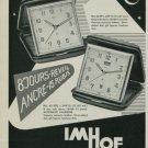 1950 Imhof Clock Company Switzerland Vintage 1950 Swiss Ad Suisse Advert