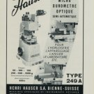 Hauser Machine Company 1956 Swiss Ad Suisse Advert Henri Hauser S.A. Horlogerie Horology