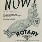 1950 Rotary Watch Company Switzerland Vintage 1950 Swiss Ad Suisse Advert