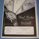 1951 Paul Buhre Watch Company Vintage 1951 Swiss Ad Suisse Advert Switzerland