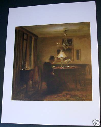 Carl Holsoe Lady in an Interior Art Ad
